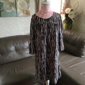 Jones New York Long Sleeve Midi Dress